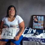 Marta Ramallo, mamá de Johana, víctima de femicidio. Fanática del Club Gimnasia y Esgrima de La Plata